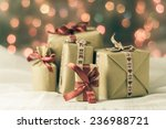packets of presents under the... | Shutterstock . vector #236988721