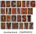 a complete english uppercase... | Shutterstock . vector #236994931