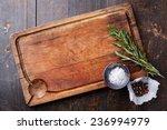 chopping board  seasonings and... | Shutterstock . vector #236994979