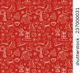 seamless pattern with winter...   Shutterstock .eps vector #237000031