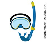 blue diving mask  diving tube ... | Shutterstock .eps vector #237002614