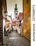 picturesque street in cesky... | Shutterstock . vector #237008971