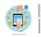 pay per click internet... | Shutterstock .eps vector #237010297