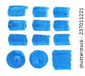 collection of acrylic brushes... | Shutterstock . vector #237011221
