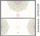 vintage ornate cards in eastern ... | Shutterstock .eps vector #237011239