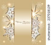 sparkling golden christmas... | Shutterstock .eps vector #237018139