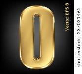 vector 3d golden number... | Shutterstock .eps vector #237031465