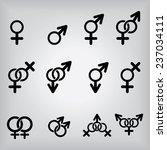 gender icons | Shutterstock .eps vector #237034111