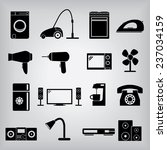 home appliances icons | Shutterstock .eps vector #237034159