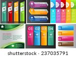 colorful modern text box... | Shutterstock .eps vector #237035791