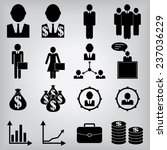 business icons | Shutterstock .eps vector #237036229