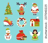 christmas new year holiday... | Shutterstock . vector #237040225