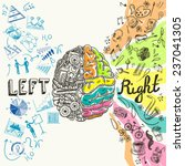 brain left analytical and right ... | Shutterstock . vector #237041305