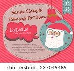 season greetings  christmas...   Shutterstock .eps vector #237049489