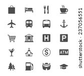map and location flat icons | Shutterstock .eps vector #237056551