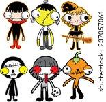 halloween cartoons | Shutterstock .eps vector #237057061