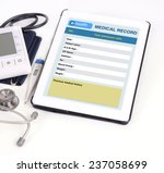 electronic medical record show... | Shutterstock . vector #237058699