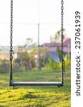 old wooden vintage swing and... | Shutterstock . vector #237061939