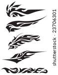 vector set of tribal symbols | Shutterstock .eps vector #23706301