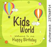 kids happy birthday celebration ... | Shutterstock .eps vector #237068914