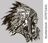 north american indian chief  ... | Shutterstock .eps vector #237071641