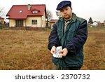 farmer shoving polish currency ... | Shutterstock . vector #2370732