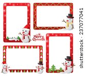 christmas border  christmas... | Shutterstock .eps vector #237077041