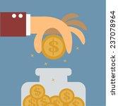 big hand saving money vector...   Shutterstock .eps vector #237078964