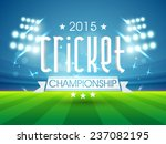 sports of cricket concept with... | Shutterstock .eps vector #237082195