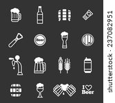 beer icons set on a black... | Shutterstock .eps vector #237082951