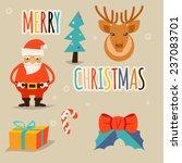 new year holidays santa modern... | Shutterstock .eps vector #237083701