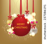christmas greeting card. vector ... | Shutterstock .eps vector #237086191