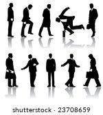 ten vector businessmen... | Shutterstock .eps vector #23708659