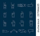 human hands communication signs ... | Shutterstock . vector #237086635