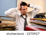 young  white callar worker on... | Shutterstock . vector #2370927
