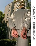 arrested man in a business suit ... | Shutterstock . vector #2370950