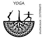 yoga style mandala with... | Shutterstock .eps vector #237098695