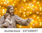Jesus Statue With A Child