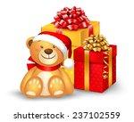 Christmas Teddy Bear Sitting...