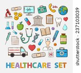 medical doddle set on a white... | Shutterstock . vector #237103039
