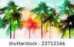 tropical palmtree island scenic ... | Shutterstock . vector #23712166