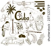 sketch collection of cuban... | Shutterstock .eps vector #237122719