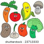 cartoon vegetable collection 1  ... | Shutterstock .eps vector #23713333