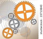 various cogwheels   Shutterstock .eps vector #23713840