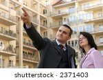 real estate agent showing flat... | Shutterstock . vector #2371403