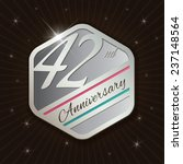 42nd anniversary   classy and... | Shutterstock .eps vector #237148564