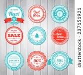 vintage labels template set.... | Shutterstock .eps vector #237151921
