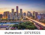 Beijing  China City Skyline In...