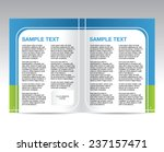 brochure blue and green design... | Shutterstock .eps vector #237157471