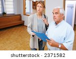 real estate agent showing flat... | Shutterstock . vector #2371582